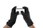 Dwuwarstwowe rękawiczki Mujjo do obsługi ekranów dotykowych
