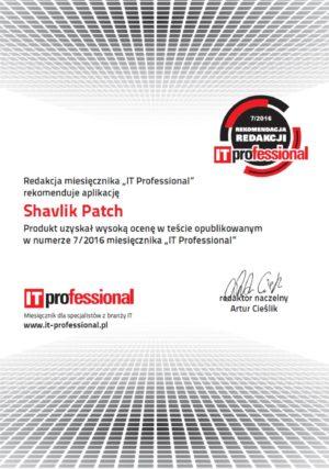 Rekomendacja_Shavlik_Patch_certyfikat